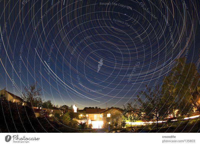 ich komm mir grad ziemlich winzig vor.... Himmel schön Baum Einsamkeit Haus Beleuchtung klein hell PKW Erde Kreis Vergänglichkeit Stern Flugzeug Dorf Astrologie
