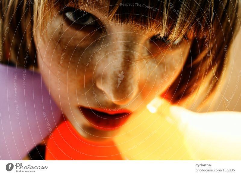 Viola tricolor Mensch Frau schön Blume Freude Gefühle Spielen Haare & Frisuren Stil braun Stimmung Hintergrundbild Mund 3 Schnur retro