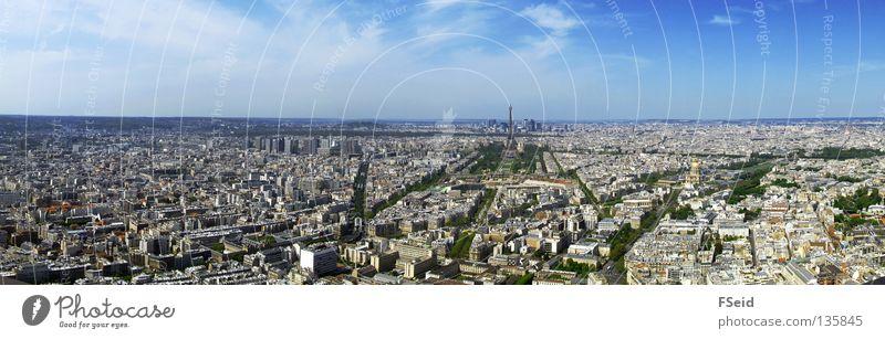 Blick über Paris vom Tour Montparnasse Ferien & Urlaub & Reisen groß Skyline Panorama (Bildformat) Tour d'Eiffel La Défense Gare de Montparnasse