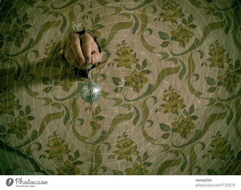 disco very alt Blume Einsamkeit Haus Innenarchitektur Wege & Pfade Wohnung glänzend Design Raum Angst Musik Wassertropfen retro kaputt Bodenbelag