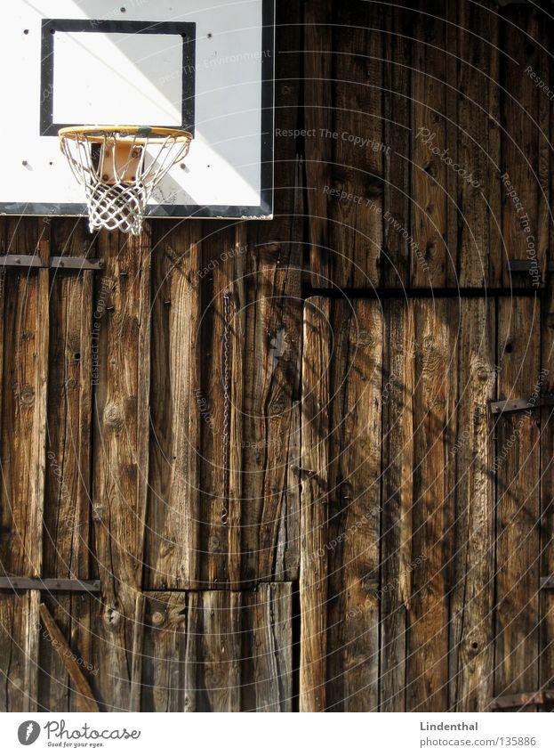 Scheunen Ball Sonne Spielen Beleuchtung Tanne Korb Basketballkorb Ballsport