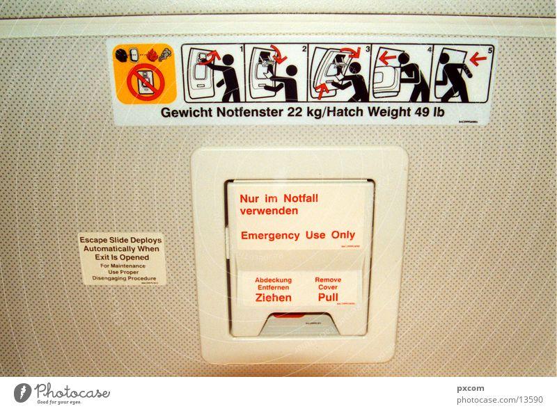 cnd.02 Piktogramm Dinge Condor Boing Emergency Exit