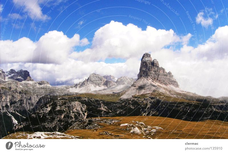 dolomiten drei zinnen Natur Ferien & Urlaub & Reisen Berge u. Gebirge Felsen Italien Klavier Alm Musikinstrument Dolomiten Zinnen