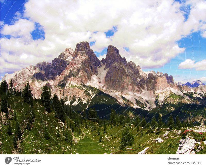 dolomiten monte cristallo Dolomiten Italien Ferien & Urlaub & Reisen Alm wandern Berge u. Gebirge Freude Felsen Natur cortina sexten