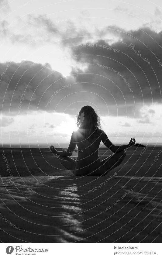 îlot de calme Kunst Kunstwerk ästhetisch Wellness Erholung Meditation ruhig ruhend Idylle Zufriedenheit Lotussitz sitzen genießen zeitlos Ruhepunkt Ruhelage