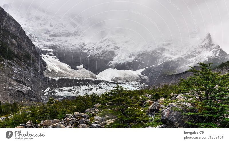 Gletscher im Nationalpark Torres Del Paine, Patagonia, Chile Ferien & Urlaub & Reisen Tourismus Schnee Berge u. Gebirge wandern Natur Landschaft Wolken Farbe