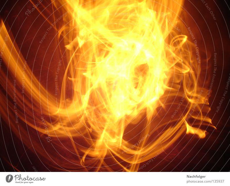 Feuerball Physik Belichtung Licht heiß brennen Brand Wärme hell