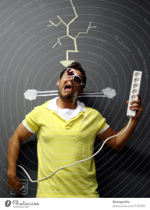 stromschlag Elektrizität Steckdose Dose Blitze Stecker Straßenkunst Freude Haushalt Elektrisches Gerät Technik & Technologie Schlag Stromschlag Rauch lustig