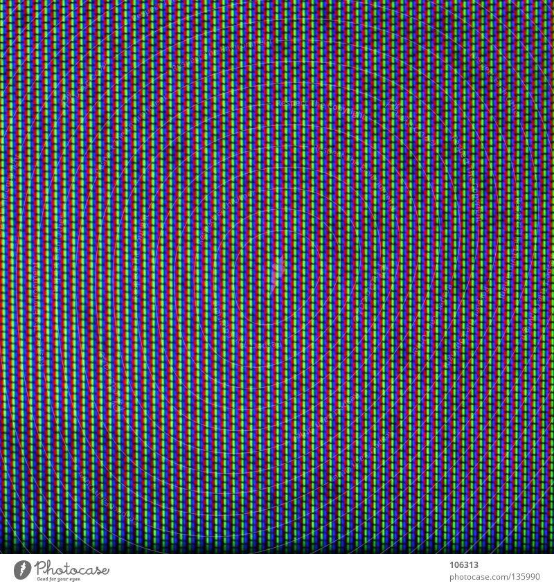 RGB [ALLE PHASEN]: DER STOFF AUS DEM DIE TRÄUME SIND grün blau rot Farbe Lampe Bildschirm leer Ordnung Fernseher Fernsehen Bildung Bild Streifen Tapete Weltall Reihe