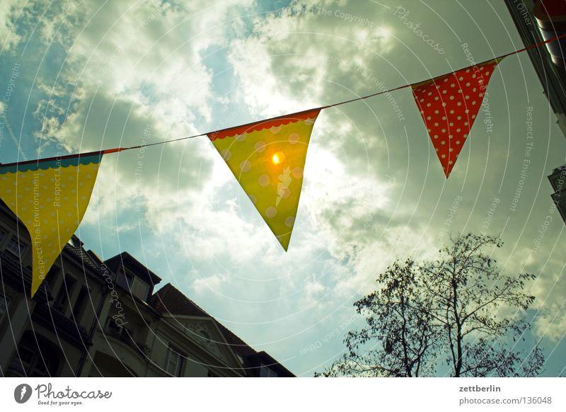 Feiertagslaune Sonne Freude Wolken Party Feste & Feiern Wind Geburtstag Dekoration & Verzierung Fahne Schmuck wehen Wiedervereinigung Einladung Girlande