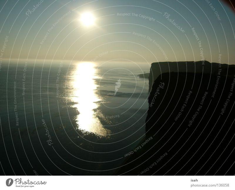 Sonnenuntergang auf Helgoland Meer Strand Küste Insel Abenddämmerung Himmelskörper & Weltall