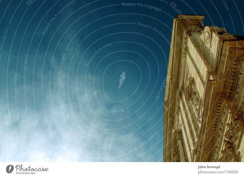 die entdeckung des himmels Wolken Erkenntnis Fassade monumental Götter groß beeindruckend Rom heilig Glaube Gotteshäuser Himmel Lichterscheinung Wasserdampf