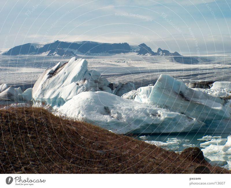 Island August 2003 Wasser Schnee See Eis Gletscher