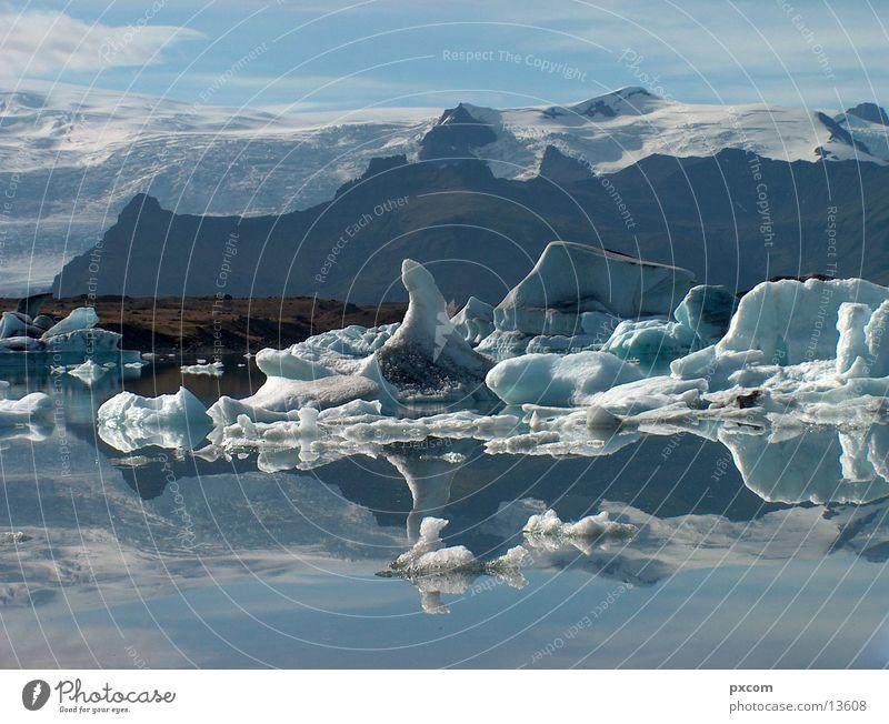 Island August 2003 #2 Wasser kalt Schnee See Eis Island Gletscher