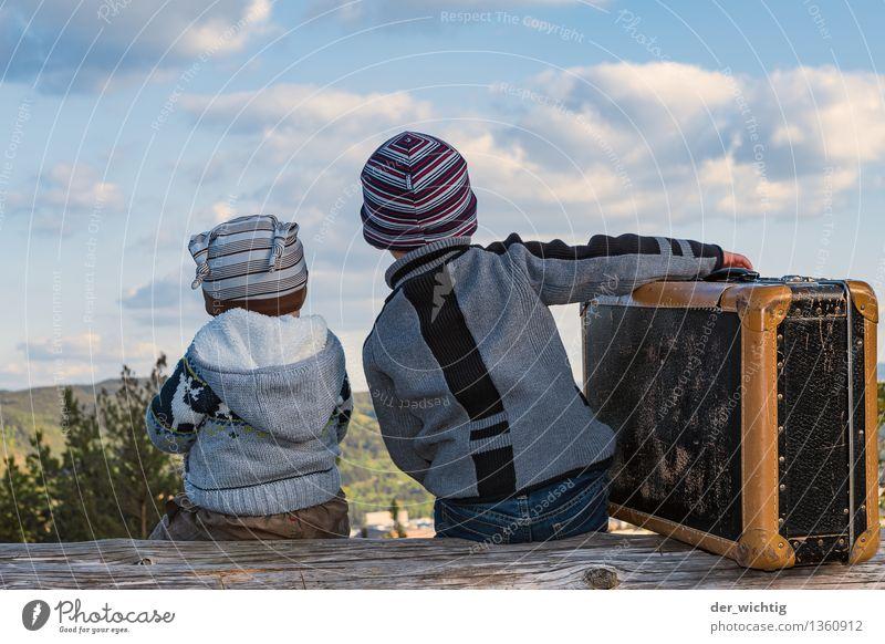 Fernweh #2 Mensch Natur Ferien & Urlaub & Reisen Sonne Baum Wolken Wald Berge u. Gebirge Herbst Junge Familie & Verwandtschaft Zufriedenheit Tourismus Kindheit