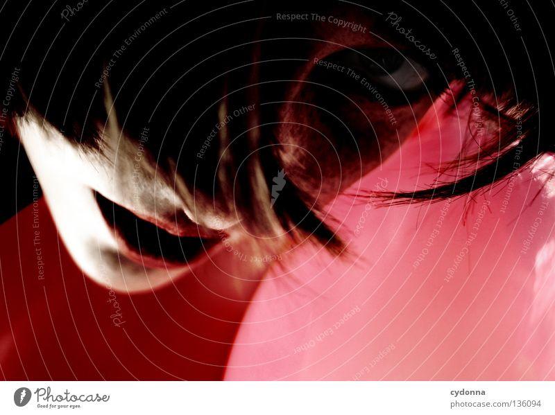 Red Ballons Mensch Frau schön rot Blume Freude dunkel Gefühle Spielen Haare & Frisuren Stil braun Stimmung Hintergrundbild Mund 3