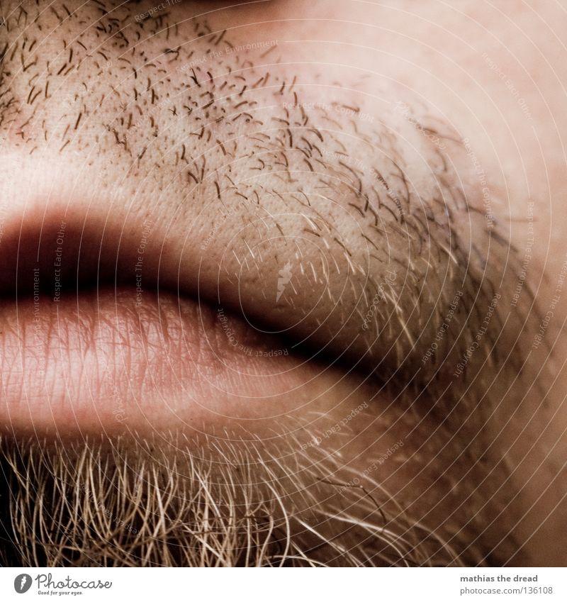 RASIEREN NÖTIG Mann rot Gesicht rosa Wildtier Mund natürlich maskulin authentisch weich Bad Lippen Falte lang Küssen