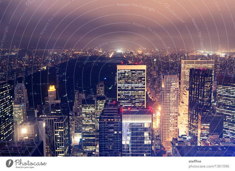 NYC |03 New York City Manhattan USA Stadt Stadtleben Hochhaus Skyline ästhetisch Freiheit Amerika Central Park Wahrzeichen Nacht Nachtaufnahme