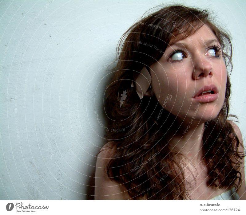 Stille 2 ruhig Angst Ohr Stoff hören Panik erstaunt Heftpflaster lockig