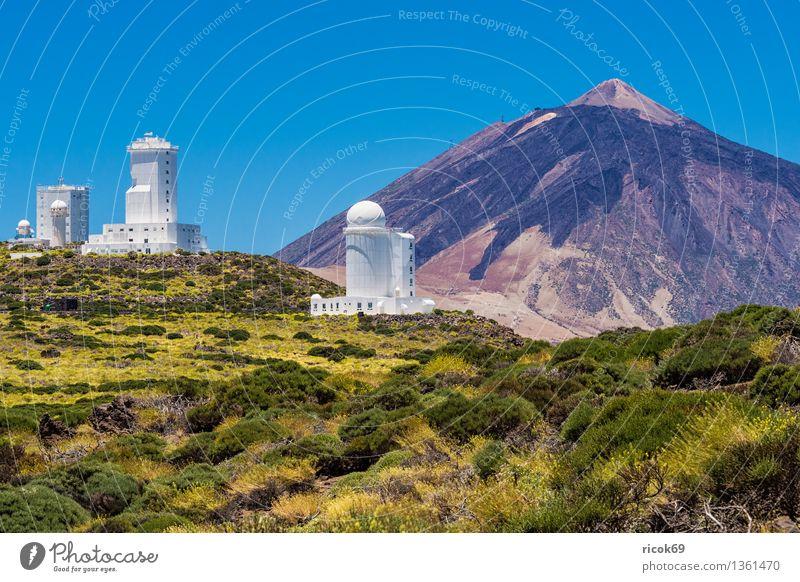 Observatorio del Teide Natur Ferien & Urlaub & Reisen blau Landschaft Berge u. Gebirge Architektur Gebäude Erde Tourismus Weltall Spanien Bauwerk