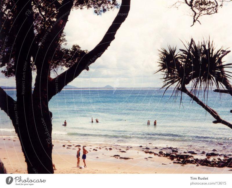 Australische Küste 2 Mensch Baum Strand Sand