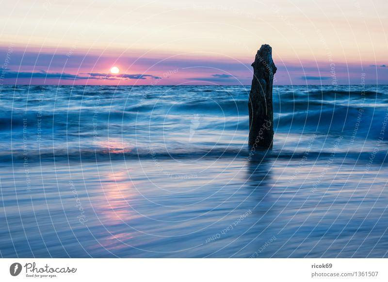 Ostseeküste Natur Ferien & Urlaub & Reisen alt Wasser Sonne Erholung Meer Landschaft ruhig Wolken Strand Küste Tourismus Idylle Romantik