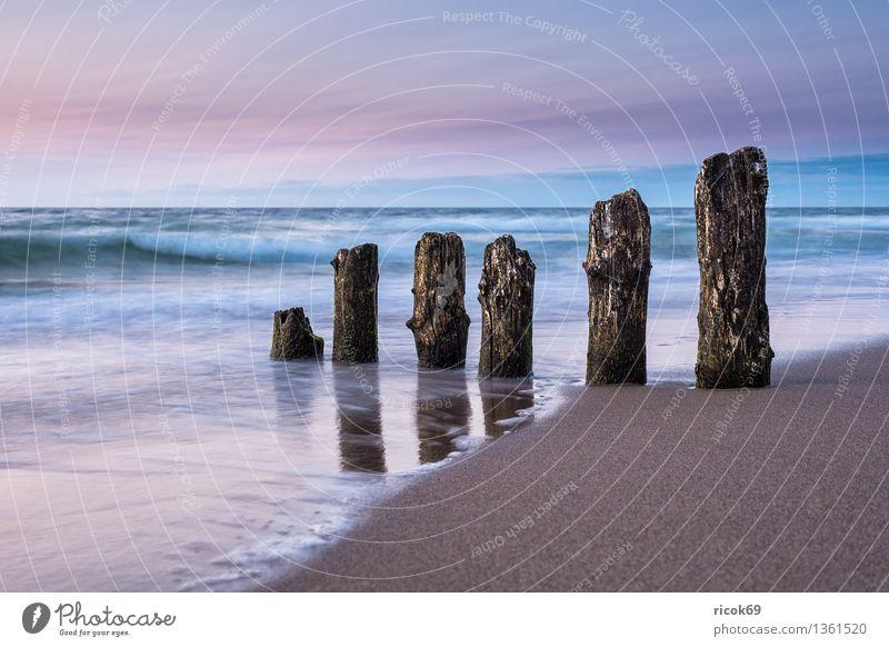 Ostseeküste Natur Ferien & Urlaub & Reisen alt Wasser Sonne Erholung Meer Landschaft ruhig Wolken Strand Küste Tourismus Idylle Romantik Ostsee