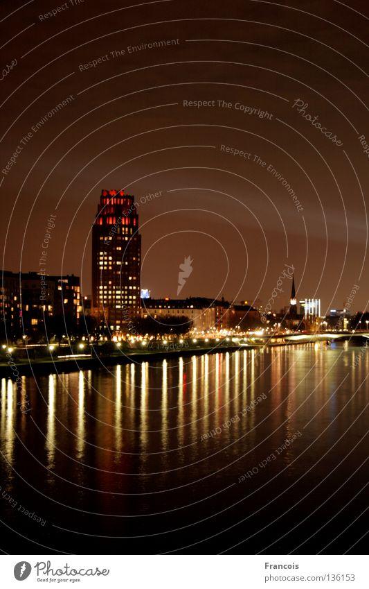 Luminale 2008 Stadt Hochhaus Skyline Frankfurt am Main Lichtstrahl