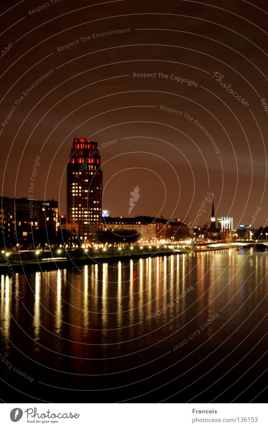 Luminale 2008 Stadt Hochhaus Skyline Frankfurt am Main Main Lichtstrahl
