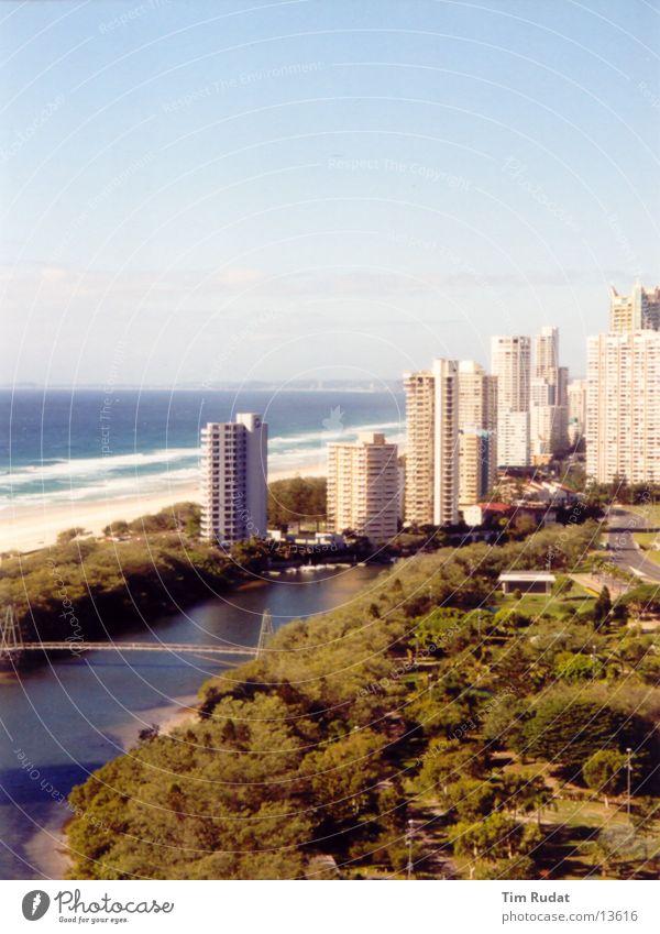 Australische Küste 3 Strand Haus Sand Küste Hochhaus Australien