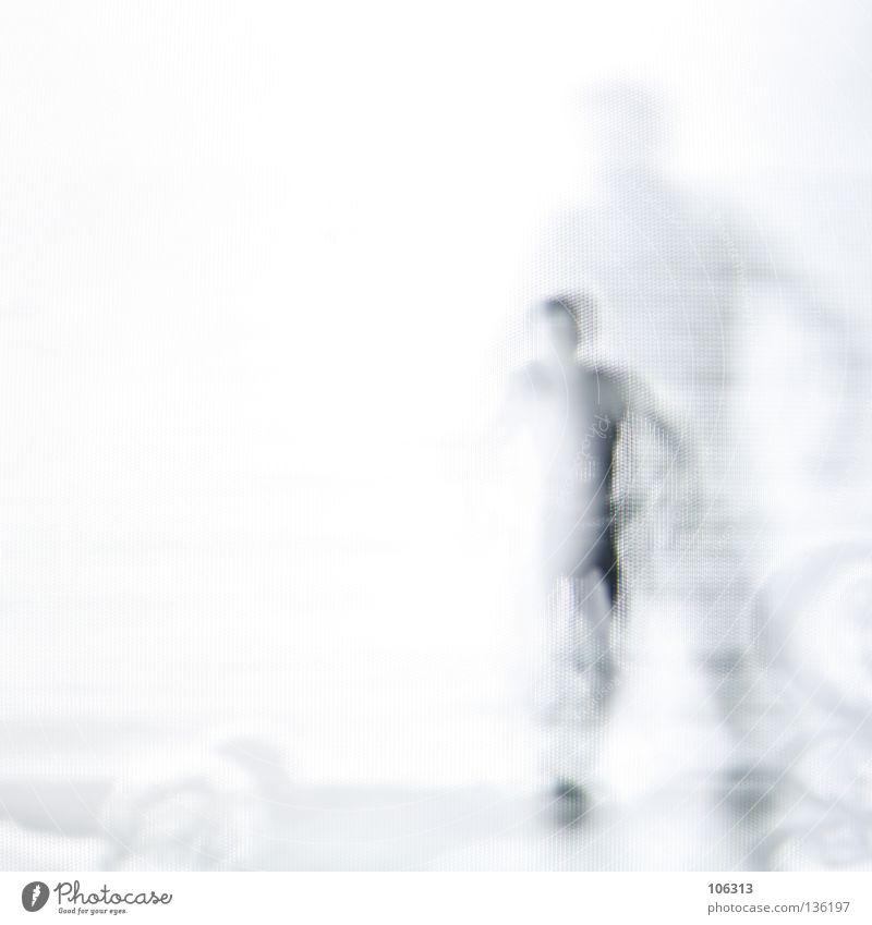 [PRGB.01] MIRROR MAN Mann mehrere 2 vervielfältigen schwarz weiß reduzieren Projekt gehen Einsamkeit ruhig laufen bedrohlich Silhouette verschwimmen seltsam