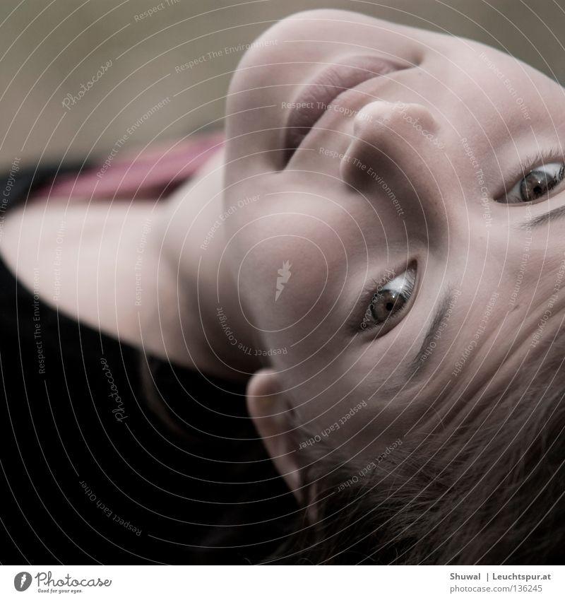 human behavior Frau Natur Jugendliche Freude Gesicht Auge feminin Kopf lachen springen Stil Haut Mund Nase Hoffnung Mensch