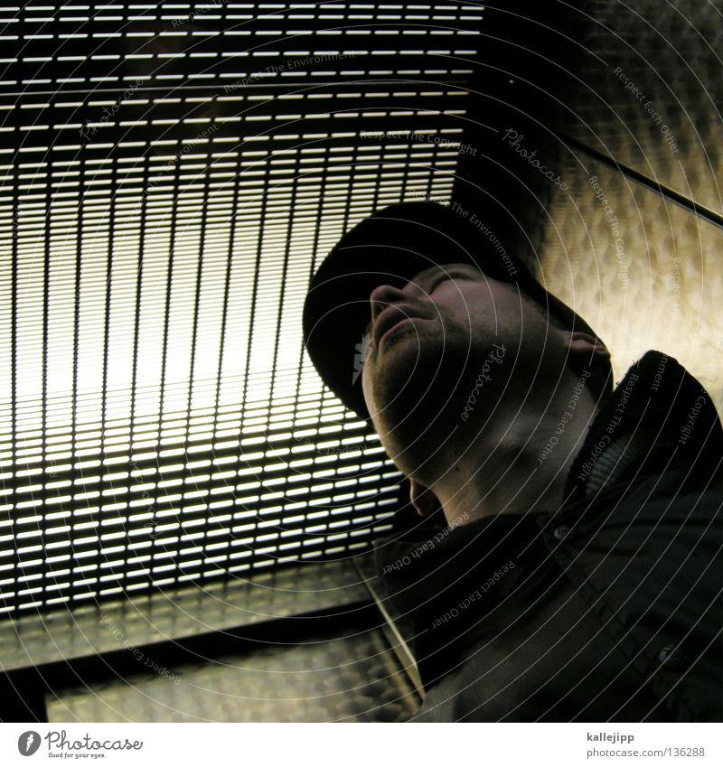 im backofen Mensch Mann Metall Lifestyle Maske Jacke Mütze Bart Fahrstuhl Grill Blech Raster Aluminium Fahndung Krimineller Baseballmütze