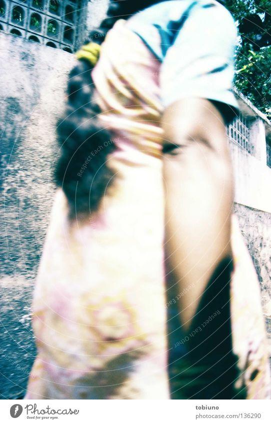 indian woman (2007) Frau Arme Indien Tracht Sari