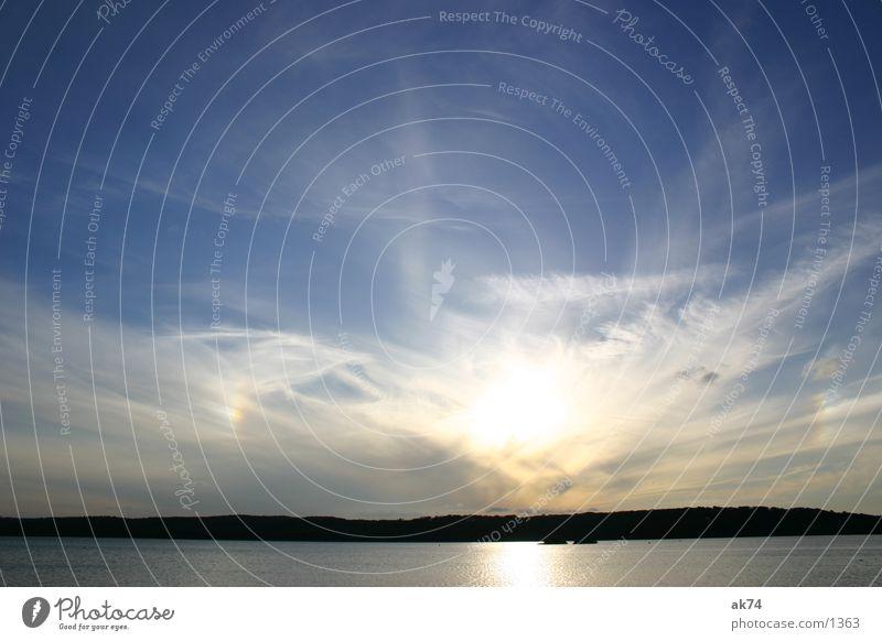 Himmel über Tollensesee Wasser Sonne blau Wolken See