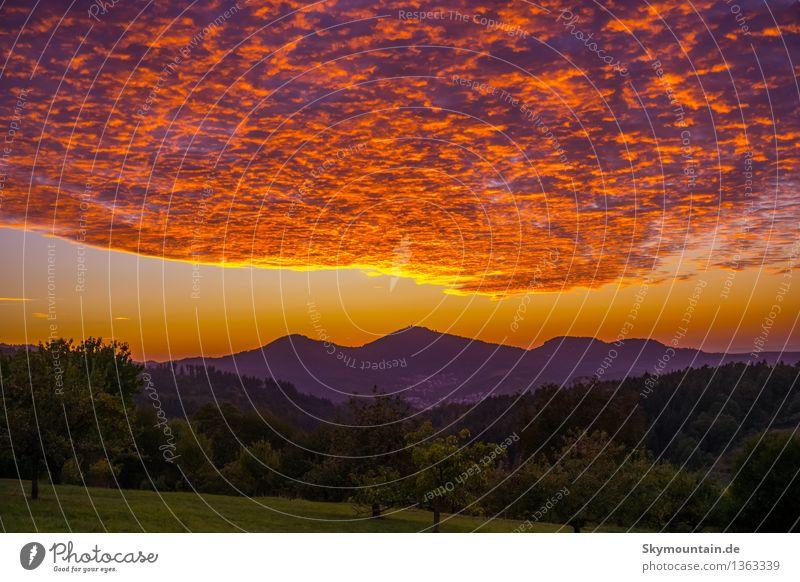 Sonnenuntergang über dem Merkur Umwelt Natur Landschaft Pflanze Tier Himmel Wolken Nachthimmel Sonnenaufgang Sonnenlicht Frühling Sommer Herbst Klima