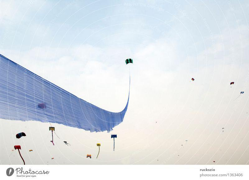 Drachen, Grossdrachen, Winddrachen, Freizeit & Hobby Spielen Basteln Ferien & Urlaub & Reisen Strand Insel Pilot Landschaft Luft Wolkenloser Himmel Küste Segel