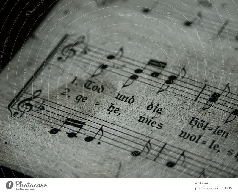 druckplatte:1 obskur historisch Musiknoten Text Bruch