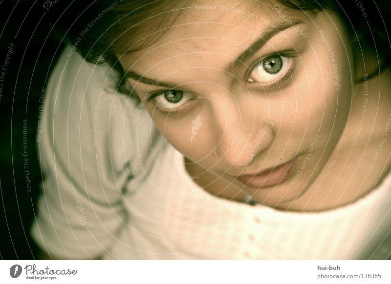 Weils Spass macht.. Mensch Frau Natur Jugendliche grün schön Winter schwarz Gesicht Auge dunkel Wärme lachen braun Kraft Haut
