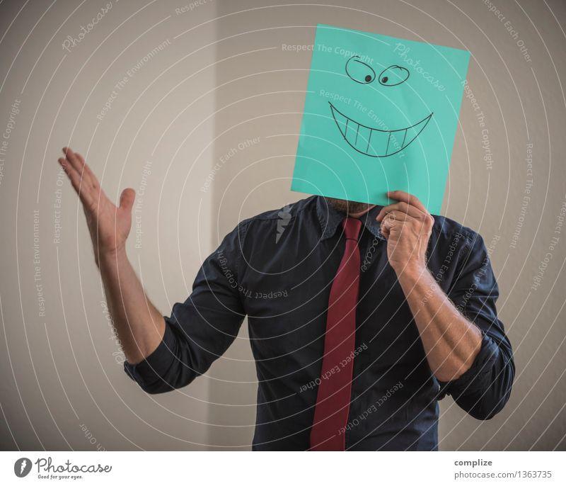 Glück im Quadrat Mensch Mann schön Freude Erwachsene Leben sprechen Gesundheit lachen Feste & Feiern Lifestyle Business Arbeit & Erwerbstätigkeit