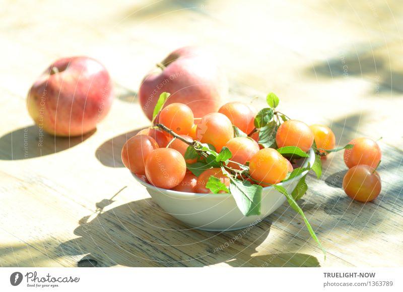 Vitamine im Sonnenlicht. . . Lebensmittel Frucht Apfel Mirabellen Ernährung Bioprodukte Vegetarische Ernährung Lifestyle Freude Glück Gesundheit