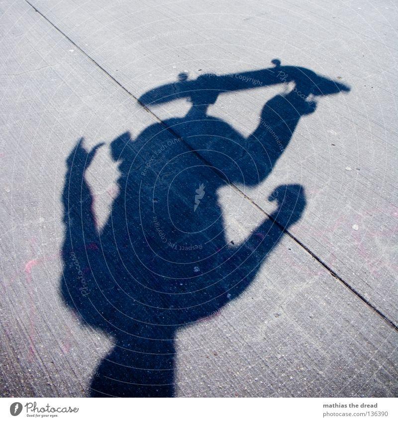 KOPFSTAND Mensch Mann Sommer dunkel Sport Junge springen Stil Stein Gesundheit Beton Luftverkehr stehen Coolness gefährlich Aktion