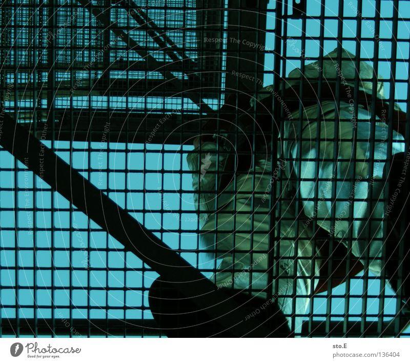 fireproof clothing pt.3 Mensch Mann Wärme Treppe maskulin Bekleidung Körperhaltung Industriefotografie Schutz heiß Jacke Hose Anzug Strahlung Arbeiter