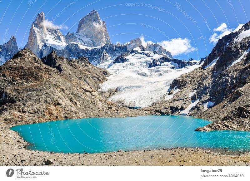 Lagoon Fitz Roy in der Nähe von El Chalten, Argentinien Himmel Natur blau Landschaft Berge u. Gebirge Schnee See Felsen Park wandern Aussicht Klettern Süden