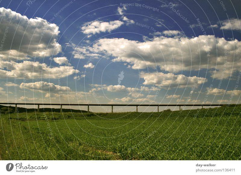 Überspannung Natur Himmel Wolken Straße Wiese Wege & Pfade Feld Beton Brücke Rasen Hügel Autobahn Landwirtschaft Stahl Bauwerk