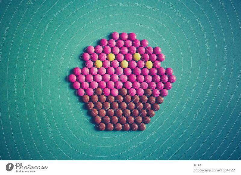 Man gönnt sich ja sonst nichts blau schön Gefühle lustig Stil Glück klein Lifestyle außergewöhnlich Lebensmittel Stimmung rosa Design Kreativität Idee süß