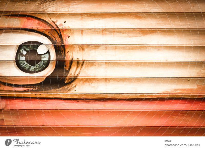 Kenn ich vom Sehen Auge Wand Graffiti Stil Mauer Kunst Lifestyle orange Design Angst Dekoration & Verzierung Schriftzeichen Kreativität beobachten Kultur