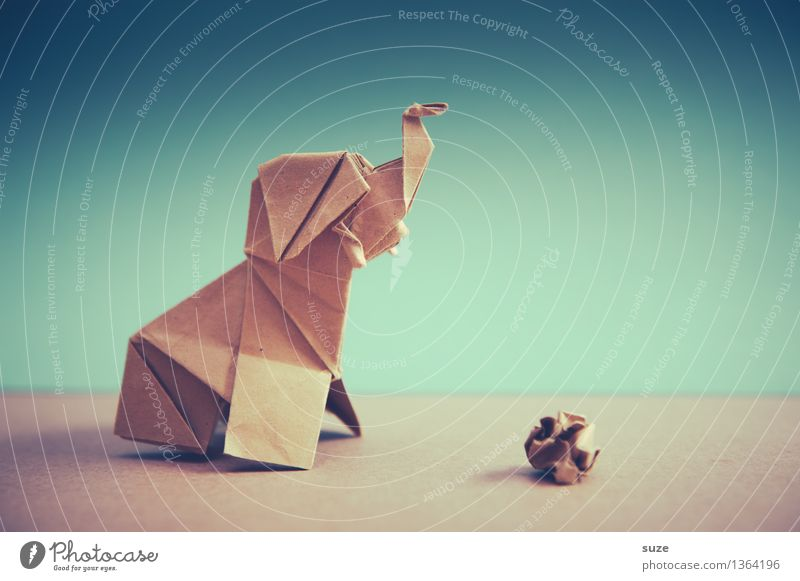 Komm' spielen! Design Freizeit & Hobby Spielen Basteln Dekoration & Verzierung Ball Kunst Umwelt Tier Papier einfach einzigartig Kitsch klein niedlich schön