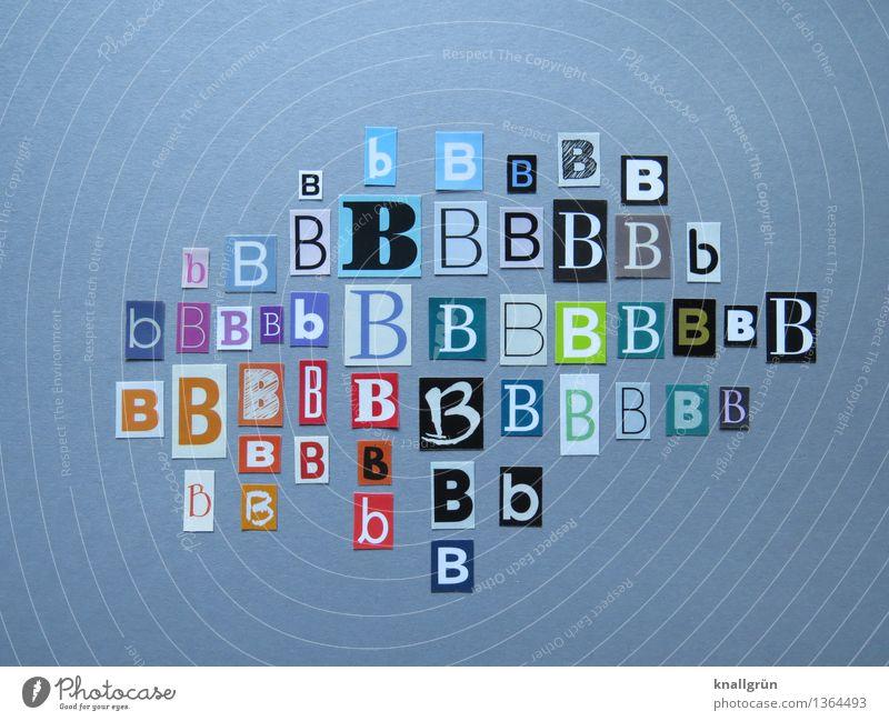 Ich kaufe ein B Schriftzeichen Kommunizieren eckig mehrfarbig Lateinisches Alphabet Großbuchstabe Buchstaben Sprache Auswahl viele Farbfoto Studioaufnahme