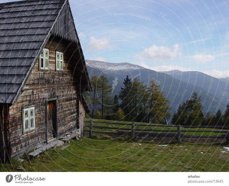 Hütte Natur Baum Wald Berge u. Gebirge Freiheit Landschaft
